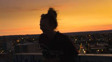 Den Abend haben wir mit einem schönen Blick über Windhoek ausklingen lassen